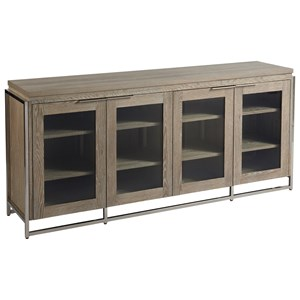 Contemporary Fairbanks Entertainment Console with Adjustable Shelves