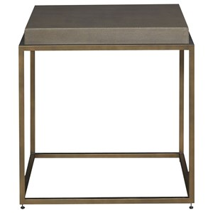 Bennett End Table with Bronze Finished Base