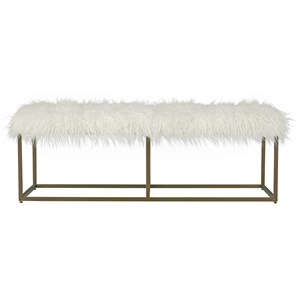 Bench with Brushed Brass Base