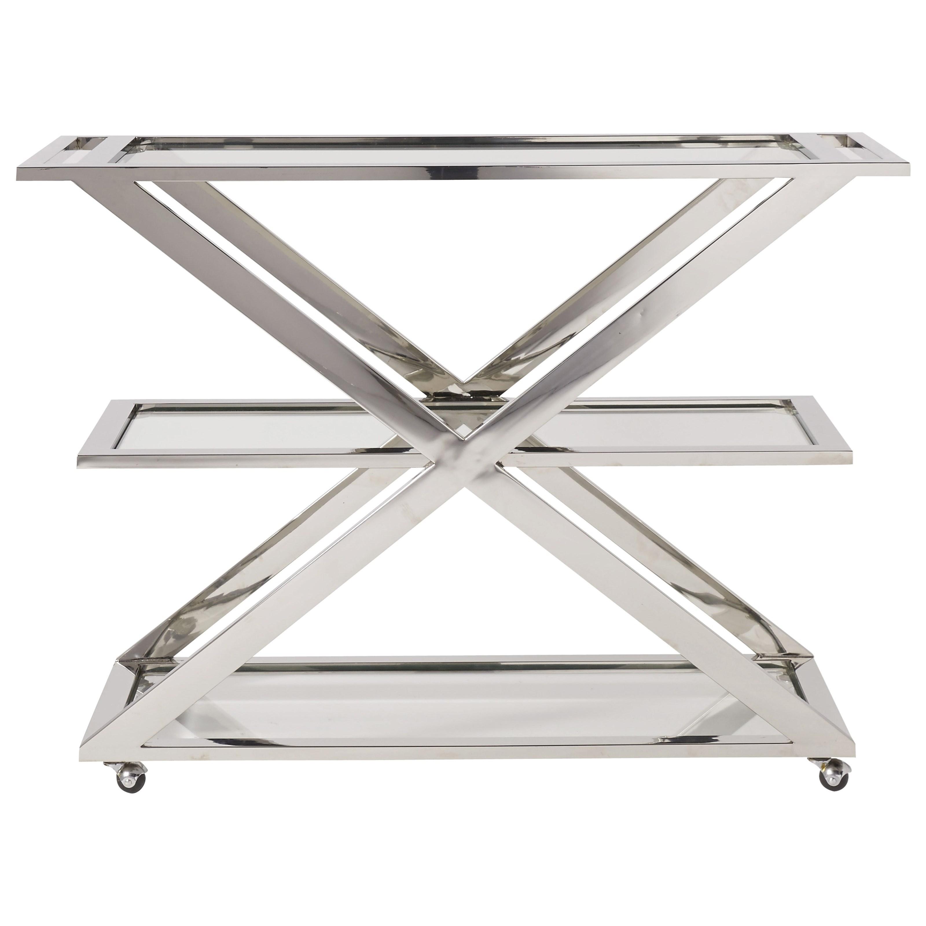 Modern Draper Bar Cart by Universal at Belfort Furniture