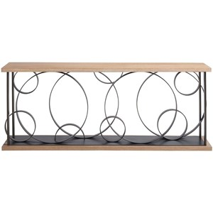 Coppola Contemporary Console Table with Circles Base Design