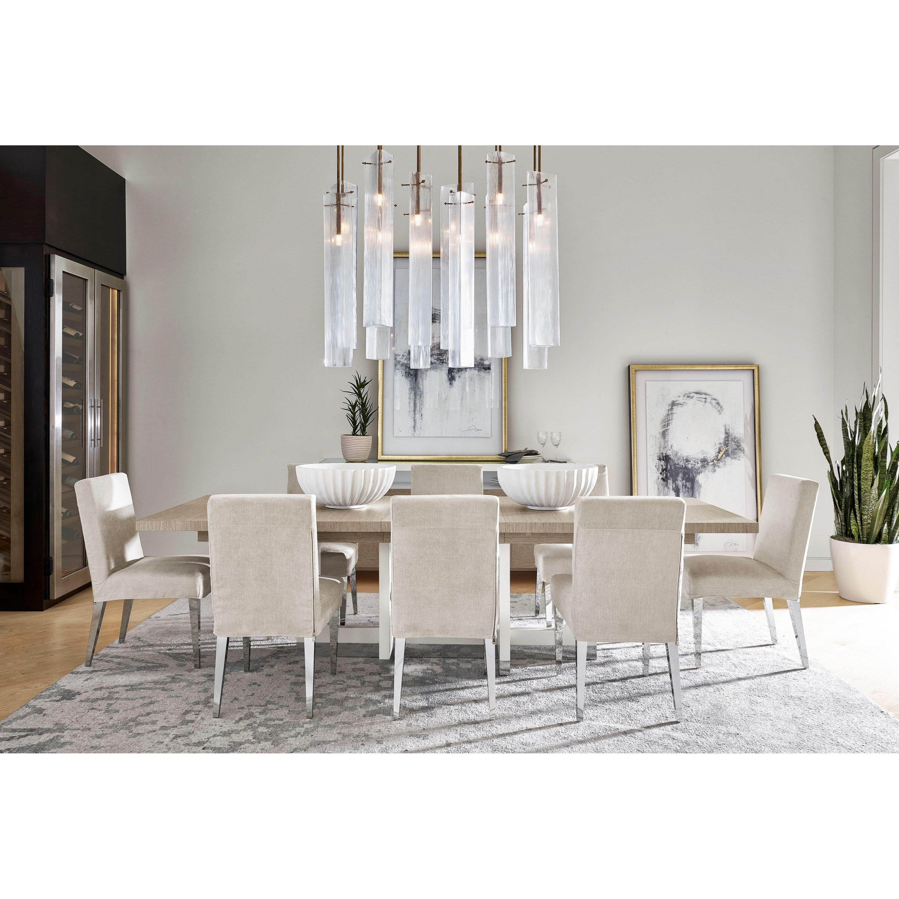 Modern 9-Piece Marley Dining Table Set by Universal at Baer's Furniture