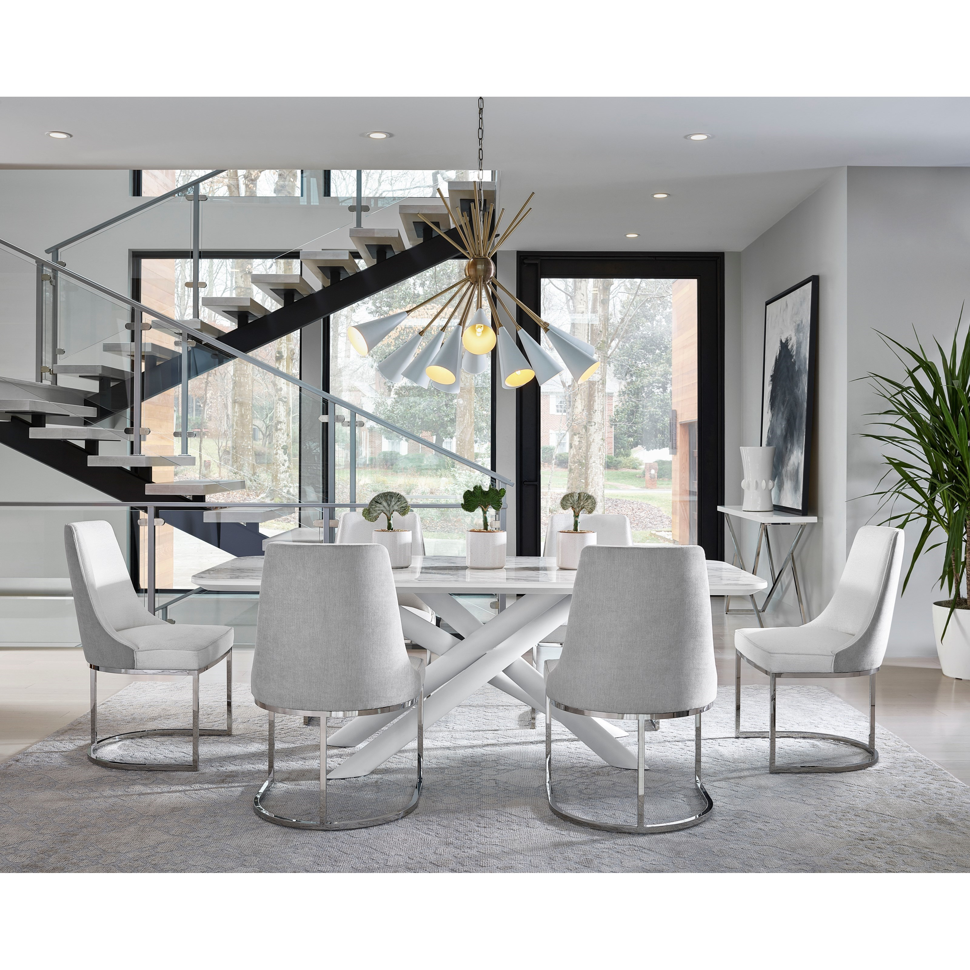 Modern 7-Piece Porter Dining Table Set by Universal at Zak's Home