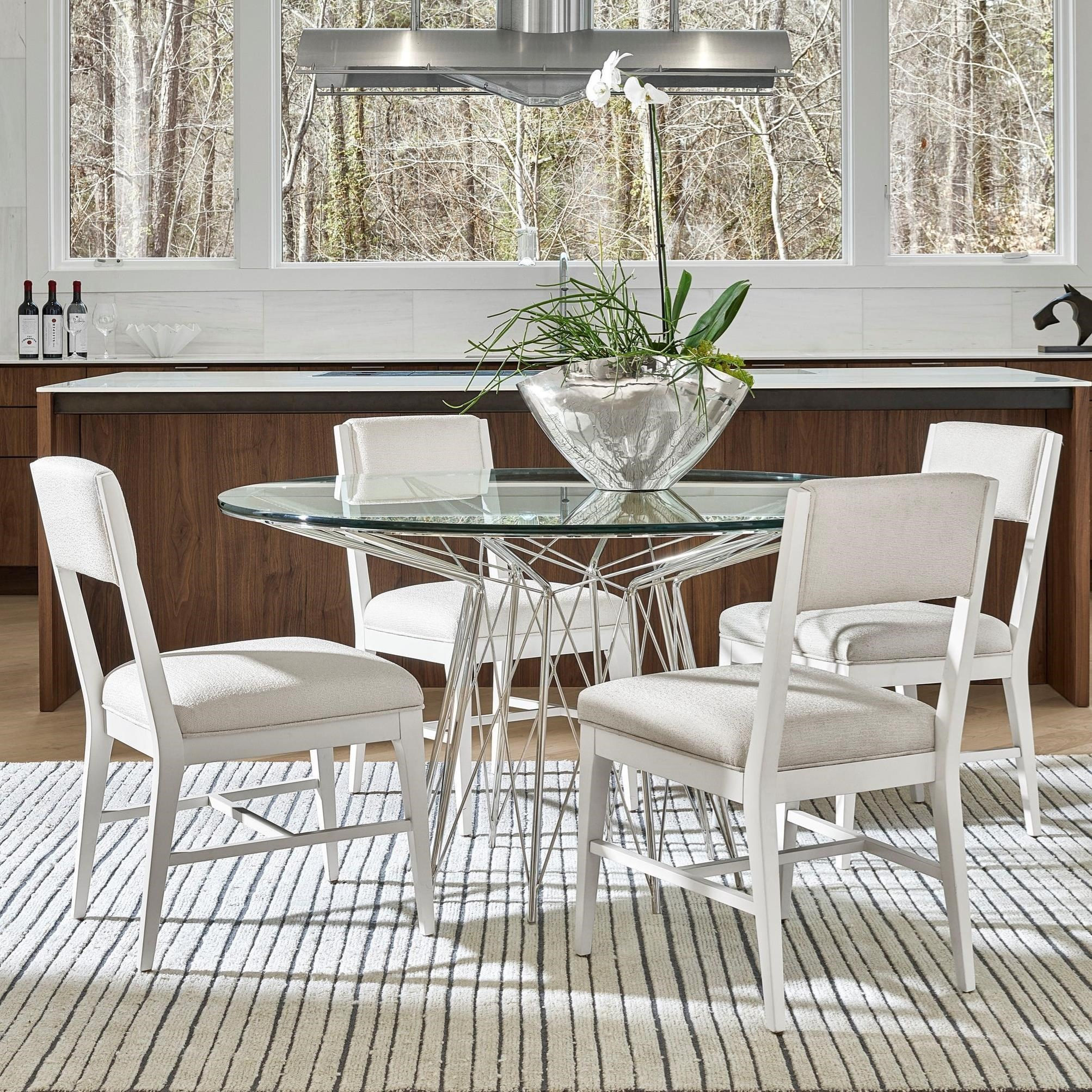 Modern 5-Piece Axel Dining Table Set by Universal at Baer's Furniture