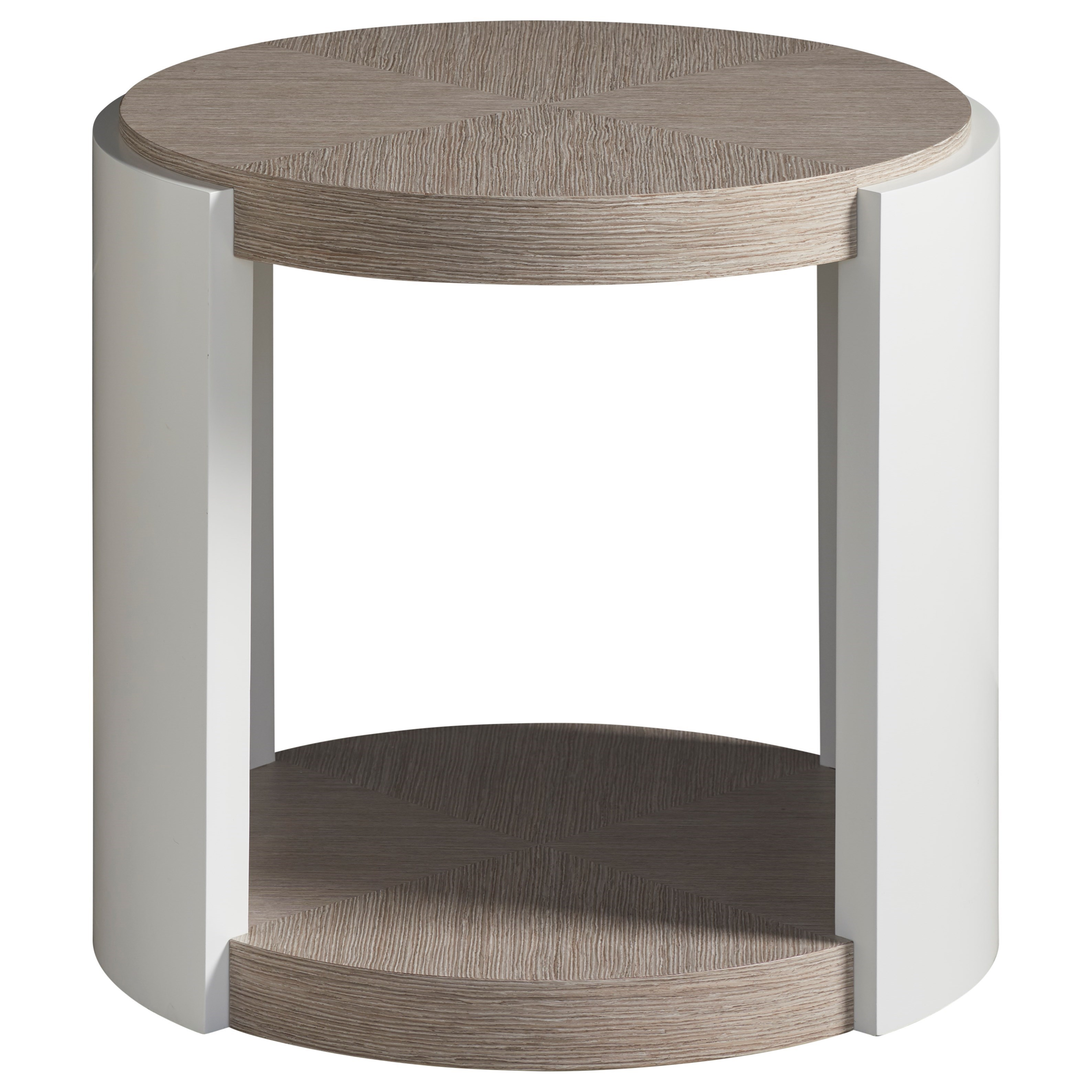 Modern Round End Table by Universal at Baer's Furniture