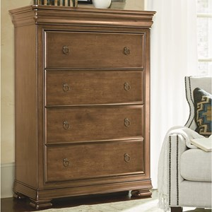 4 Drawer Chest in Cognac Finish