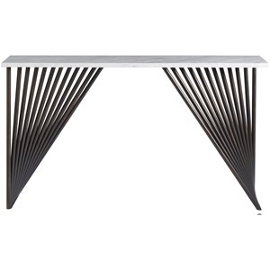 Marcel Console Table with Smooth Stone Top