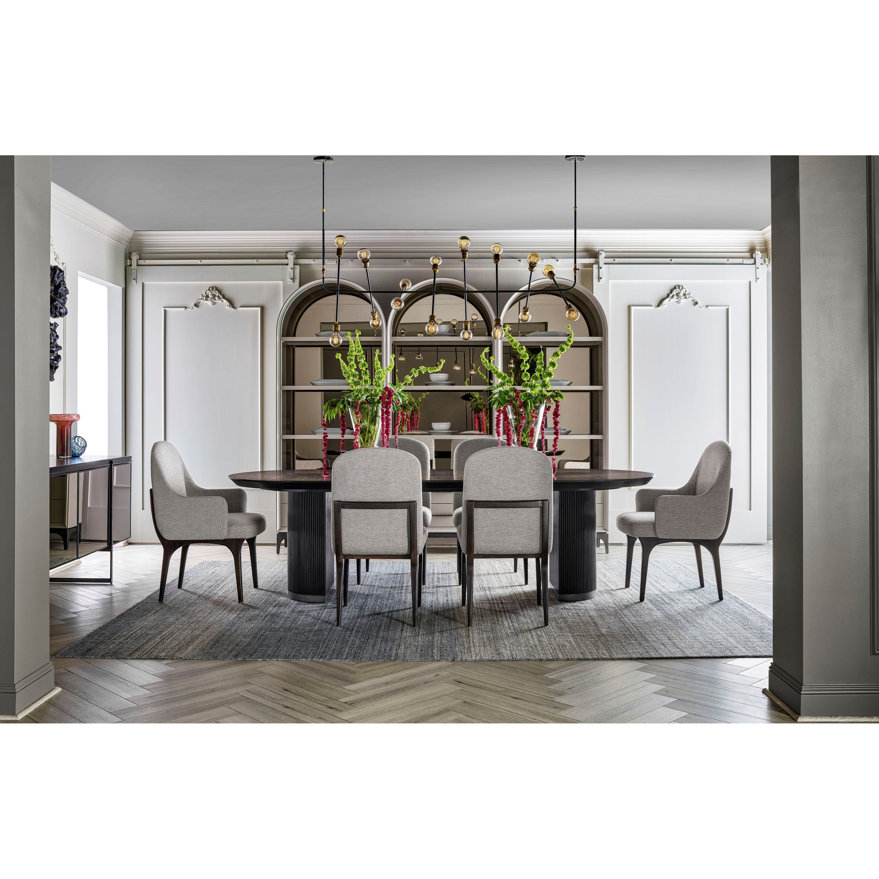 Nina Magon 941 7-Piece Dining Table and Chair Set by Universal at Zak's Home