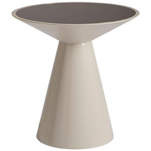 Roni Round Accent Table with Bronze Mirrored Top