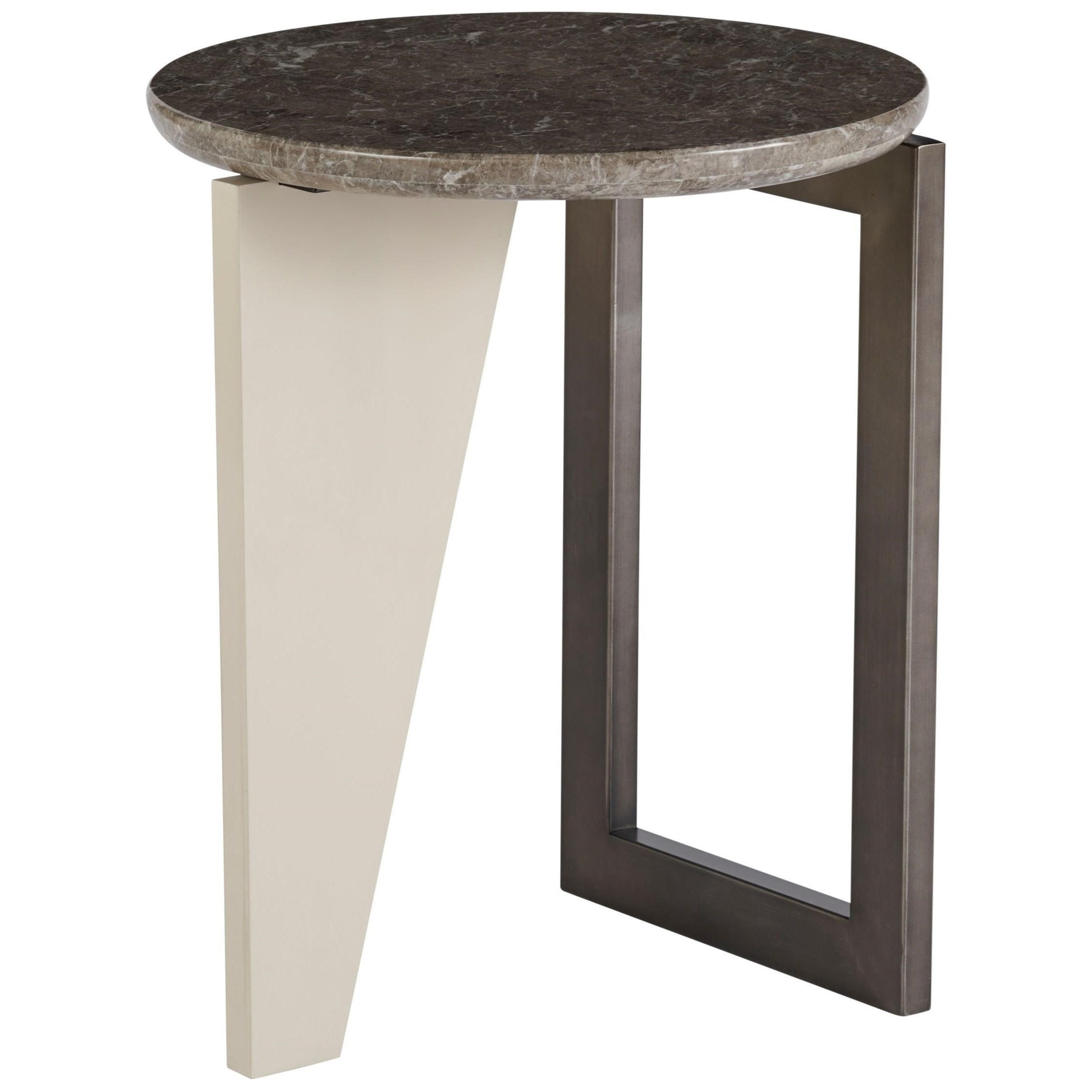 Nina Magon 941 Kline Round End Table by Universal at Zak's Home