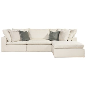 4 Piece Sectional with RAF/LAF Ottoman Chaise
