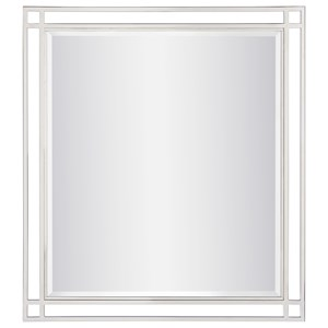 Glam Mirror with Stainless Steel Frame
