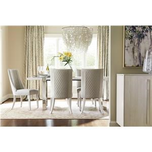 "Glam Dining Table with 20"" Table Leaf"