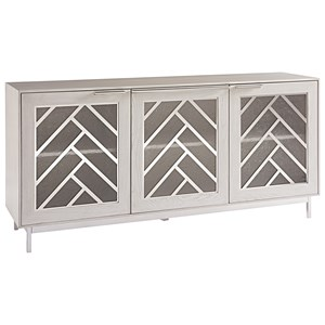 Contemporary Media Console with Adjustable Shelving