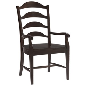 Traditional Arm Chair with Ladderback Design
