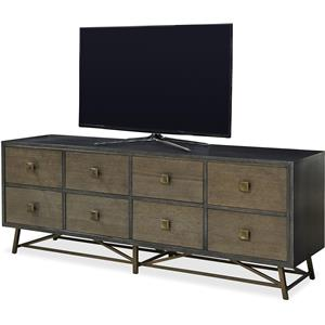 Entertainment Console with Metal Base