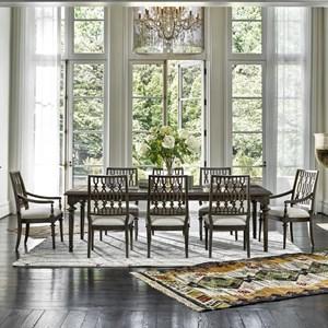 9 Piece Dining Set with Rectangular Table