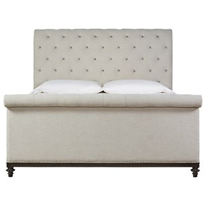 King Cute-As-A-Button Sleigh Bed