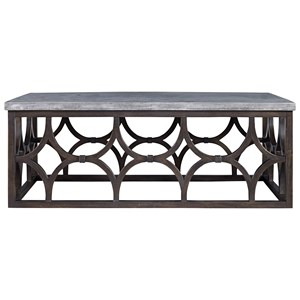Rectangular Foulard Cocktail Table with Concrete Table Top
