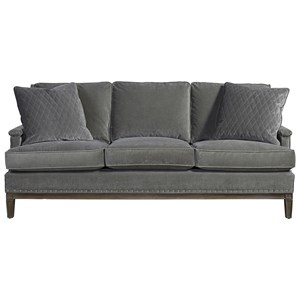 Sofa with Track Arms and Nailhead Trim
