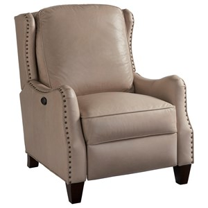 Manning Power Recliner with Nail Head Trim