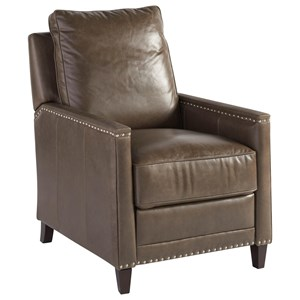 Sayers Power Recliner with Nail Head Trim