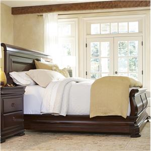 Queen Sleigh Bed with Paneled Headboard