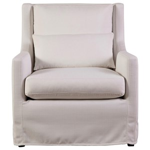 Casual Upholstered Chair with Scoop Arms