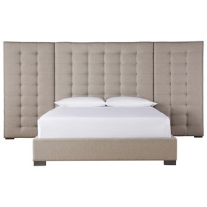 Camille Queen Bed with Wall Panels