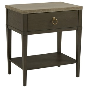 1 Drawer Night Table with Stone Top