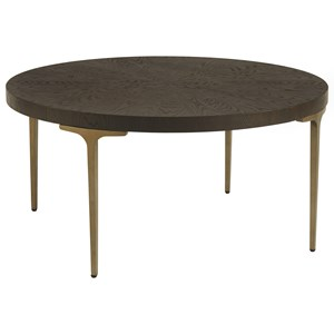 Dahlia Round Cocktail Table with Metal Base