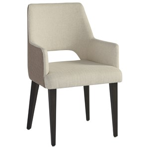 Tatum Upholstered Arm Chair with Dual Fabric Design