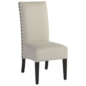 Addison Upholstered Side Chair with Large Nail Head Trim