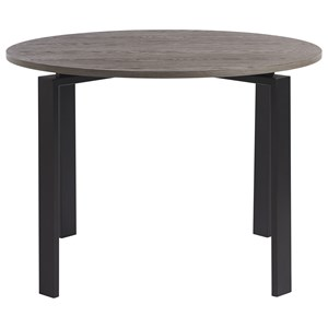 Marshall Round Dining Table with Dark Bronze Base