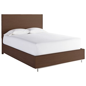 Tanner Contemporary Queen Bed in Walnut Finish