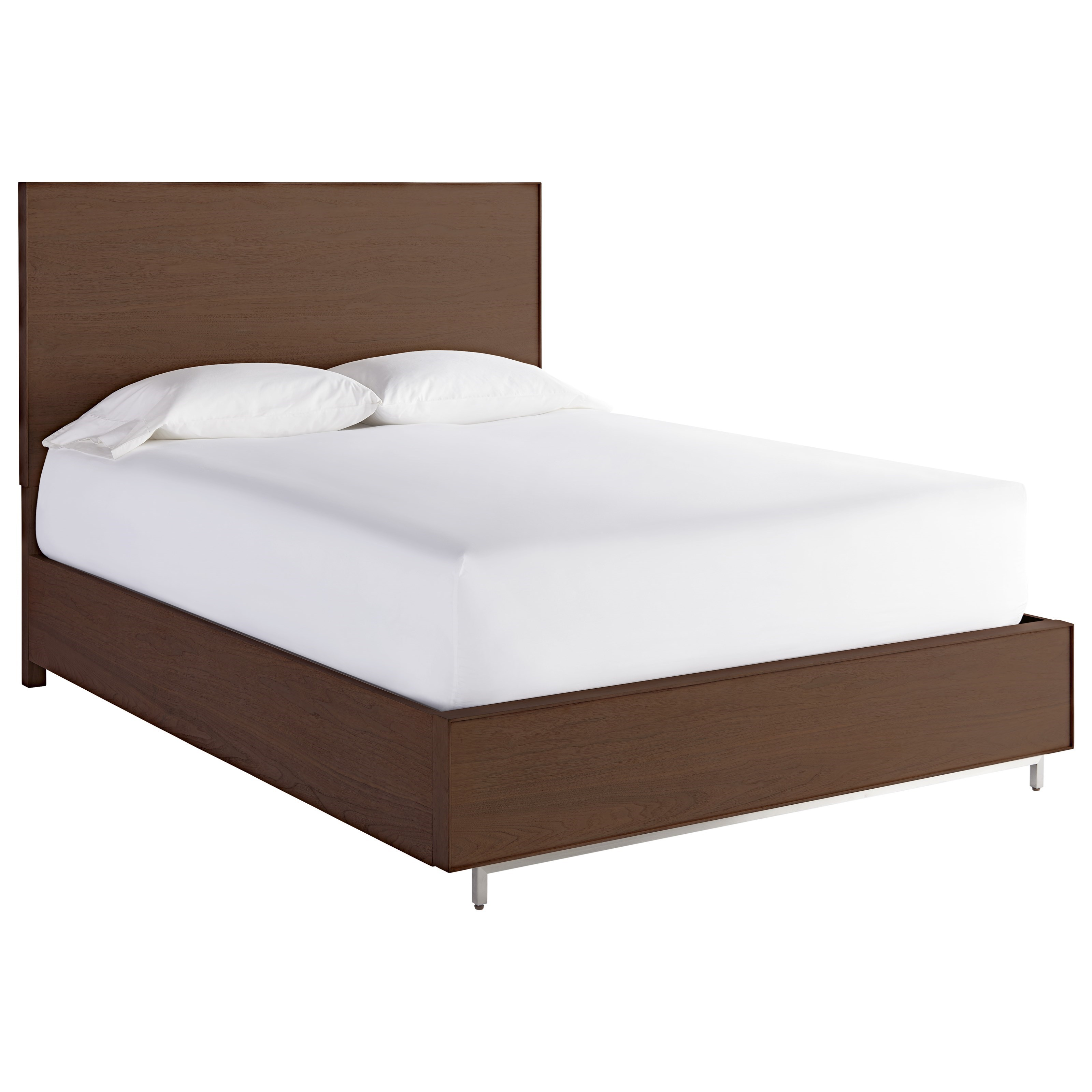 Spaces Walnut King Storage Bed by Universal at HomeWorld Furniture
