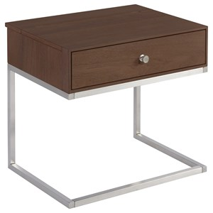 Tanner 1-Drawer Nightstand with USB Ports