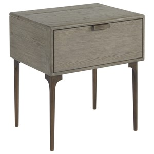 Lawson 1-Drawer Nightstand with USB Ports