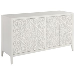 Dawson Entertainment Console with Ornately Carved Doors