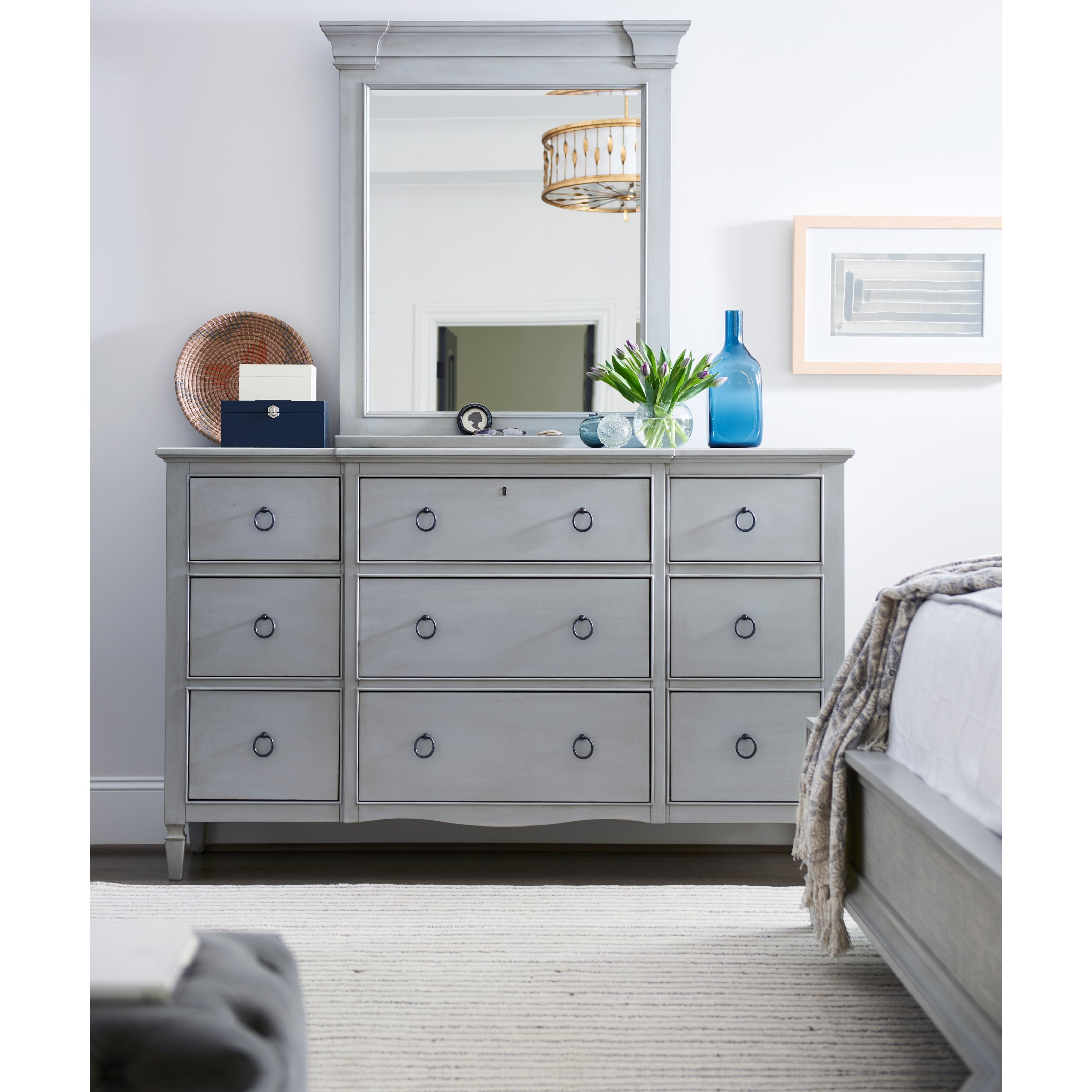 Summer Hill 9 Drawer Dresser with Mirror by Universal at Baer's Furniture