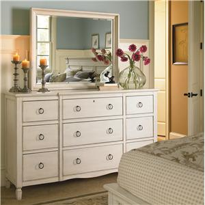 Universal Summer Hill Dresser and Mirror Set