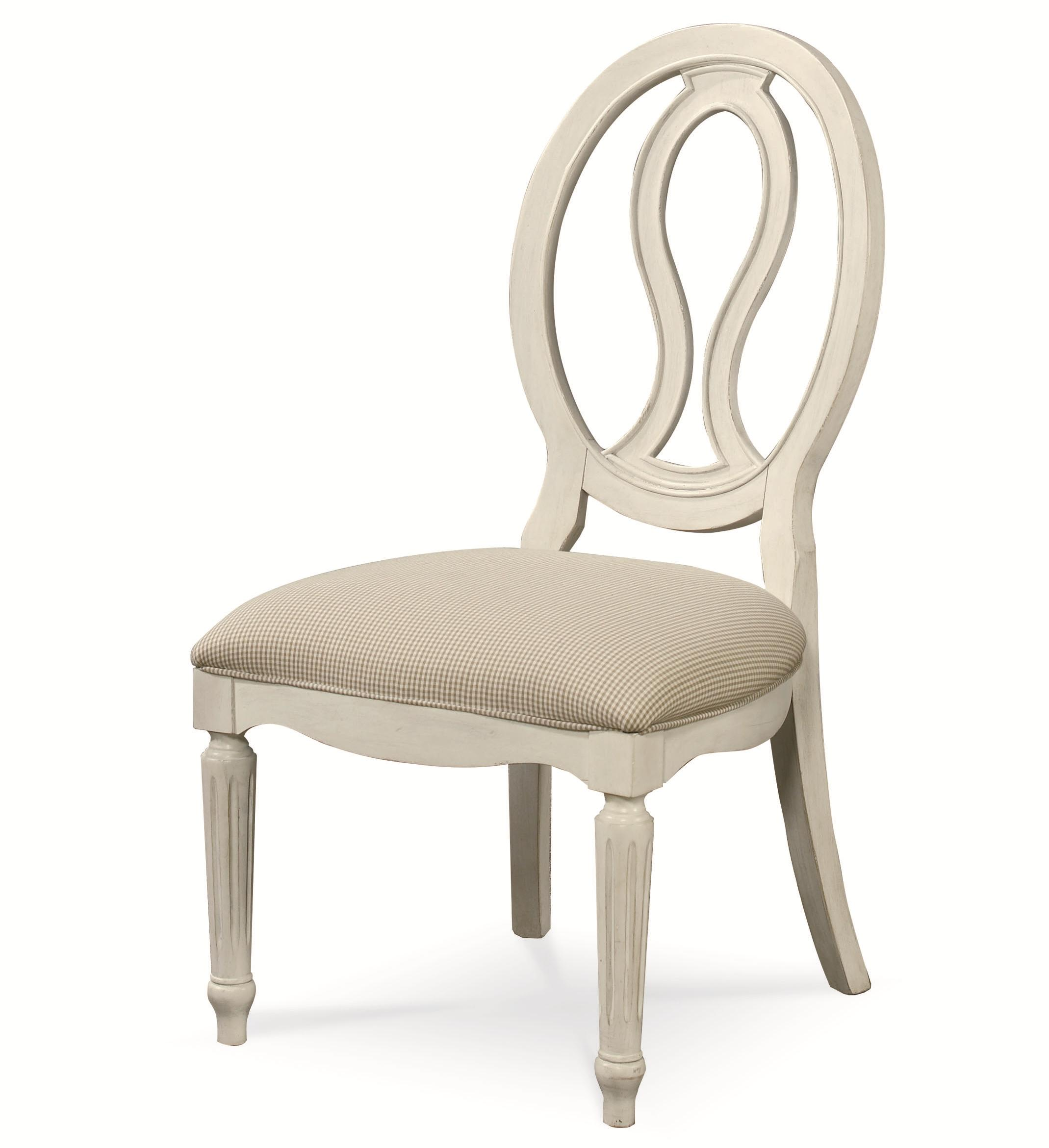 Summer Hill Pierced Back Side Chair by Universal at Furniture Barn