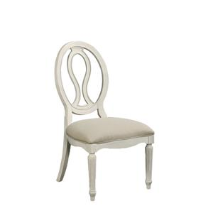 Upholstered Seat, Pierced Back Side Chair
