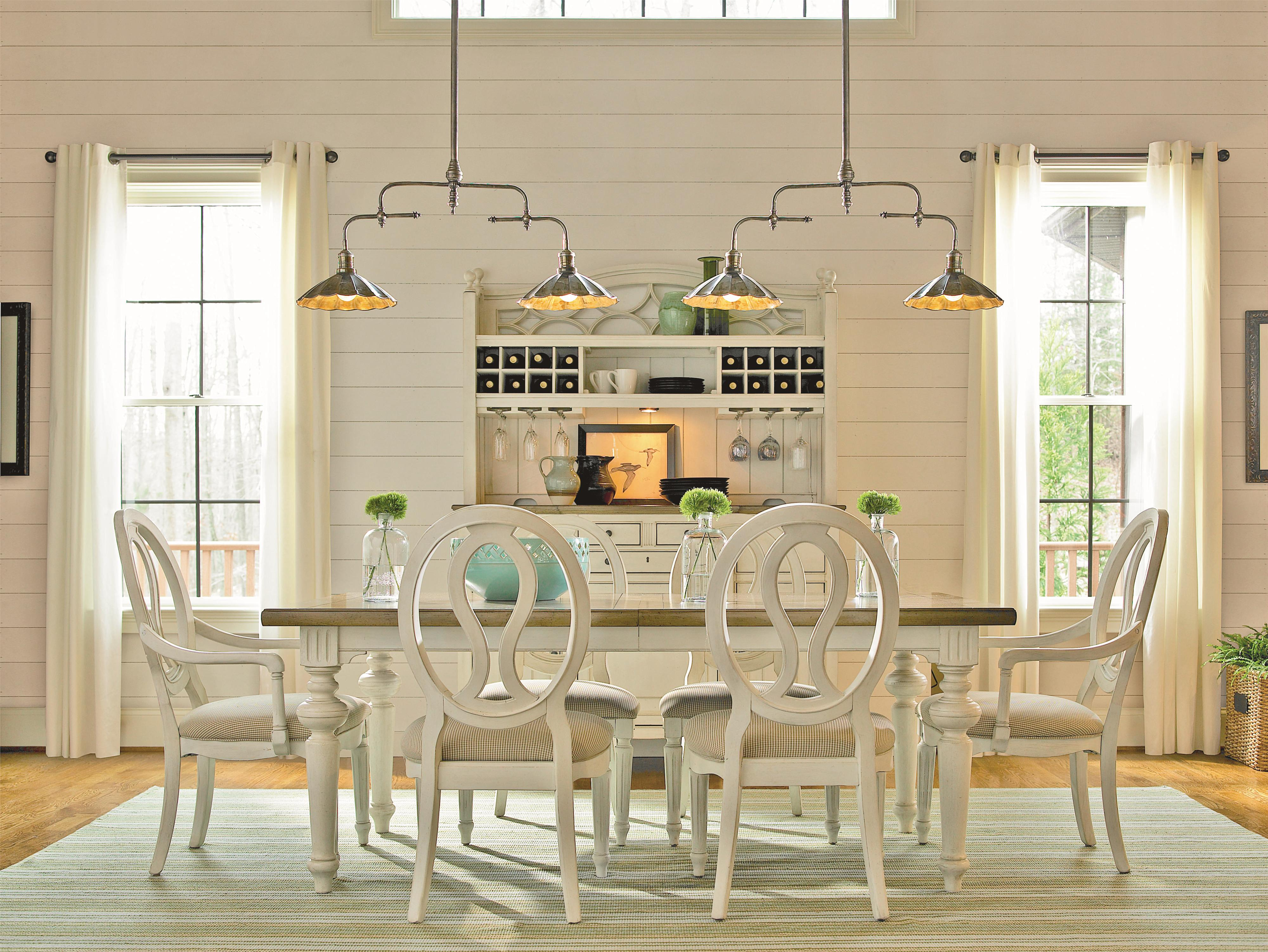 Summer Hill 7 Piece Table and Chair Set by Universal at Furniture Barn
