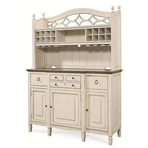 2 Pc. Serving Buffet and Bar Hutch with Wine Storage