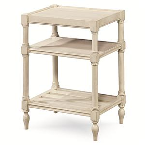 Chair side Table with 2 Shelves