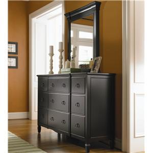 Universal Summer Hill 9 Drawer Dresser with Mirror