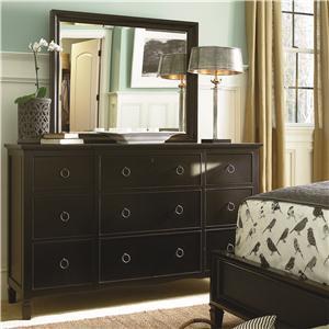Universal Summer Hill Dresser and Mirror Set