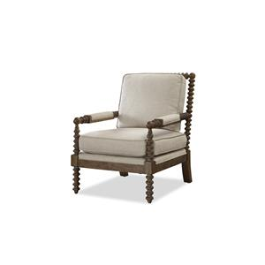 Spool Turned Arm and Leg Accent Chair