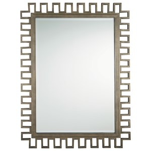 Mid-Century Modern Mirror with Gold Metal Frame